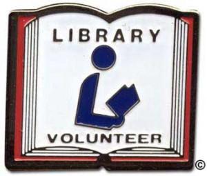 library volunteer pin